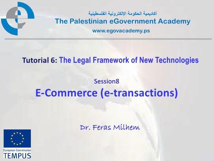 أكادٌمٌة الحكومة اإللكترونٌة الفلسطٌنٌة         The Palestinian eGovernment Academy                     www.egovacademy....