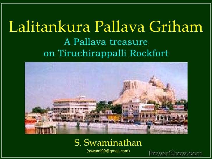 Pallava Cave Temple on Rockfort in Tiruchirappally
