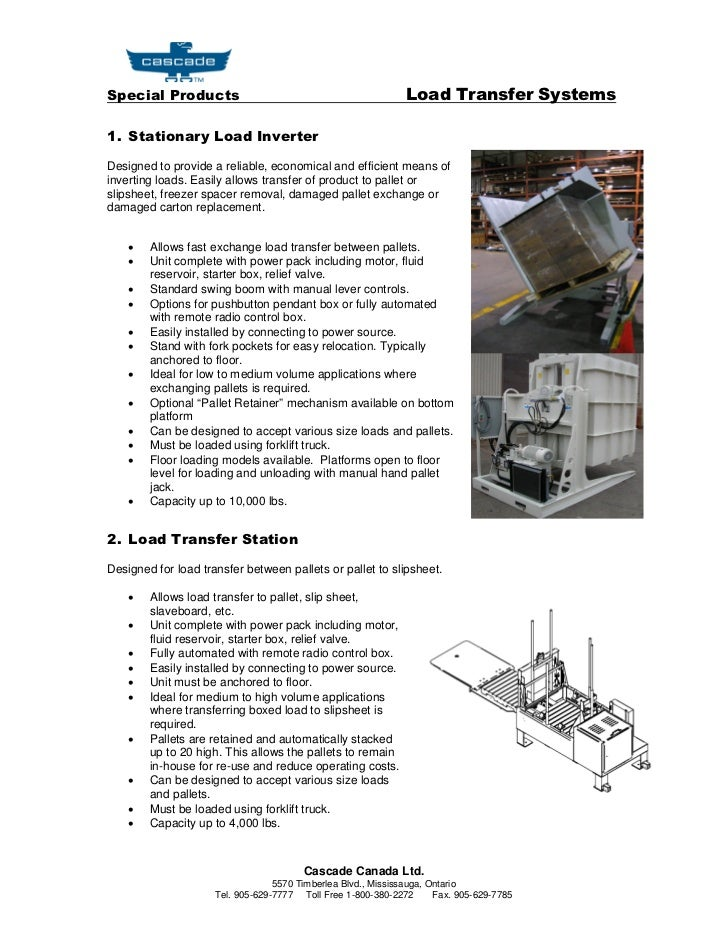 Pallet Transfer Systems Brochure