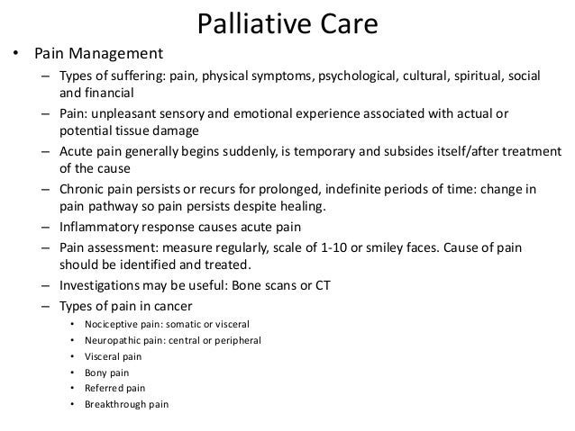 palliative care nursing case studies Integrating palliative care into outpatient there is no standard method for integrating palliative care into outpatient oncology as a case study.