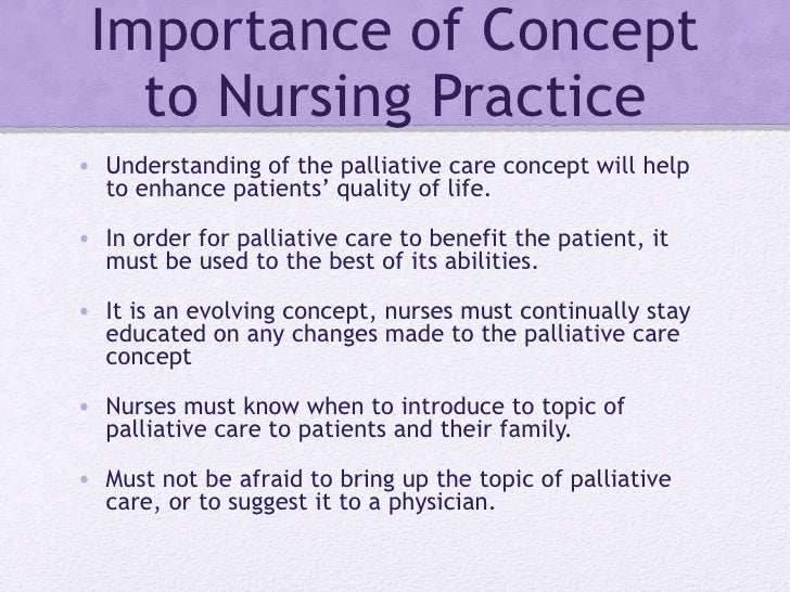 nurses on a palliative care unit nursing essay This article describes the definitions, goals and principles of palliative care nursing, and the diversity and challenges of providing this care.