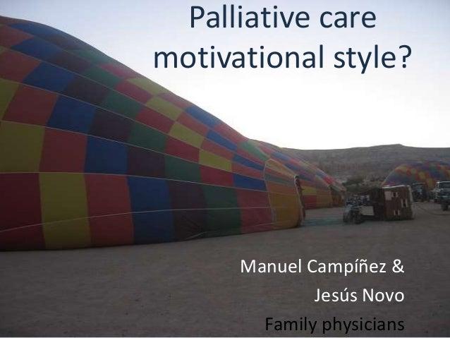 Palliative care motivational style ámsterdam