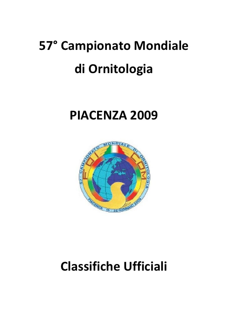Palmares Mundial 2009 Piacenza.