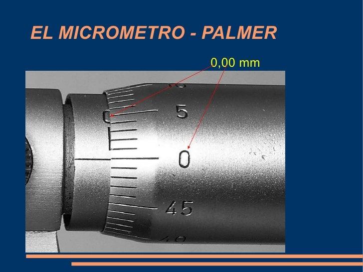 EL MICROMETRO - PALMER 0,00 mm