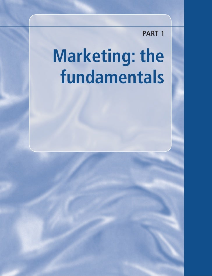 PART 1Marketing: the fundamentals