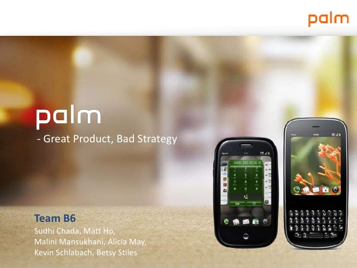 Palm - Great Product, Bad Strategy