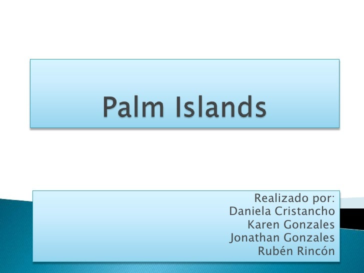 Palm islands ingles