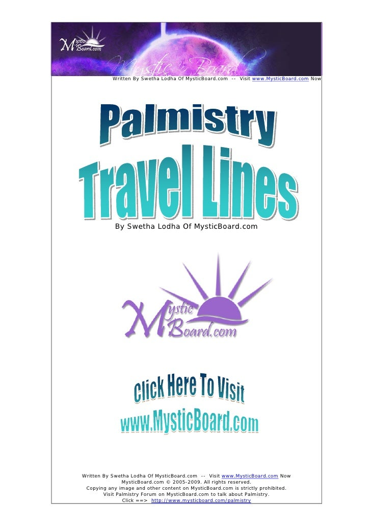 Interpreting The Travel Lines On The Palm - Palmistry Reading