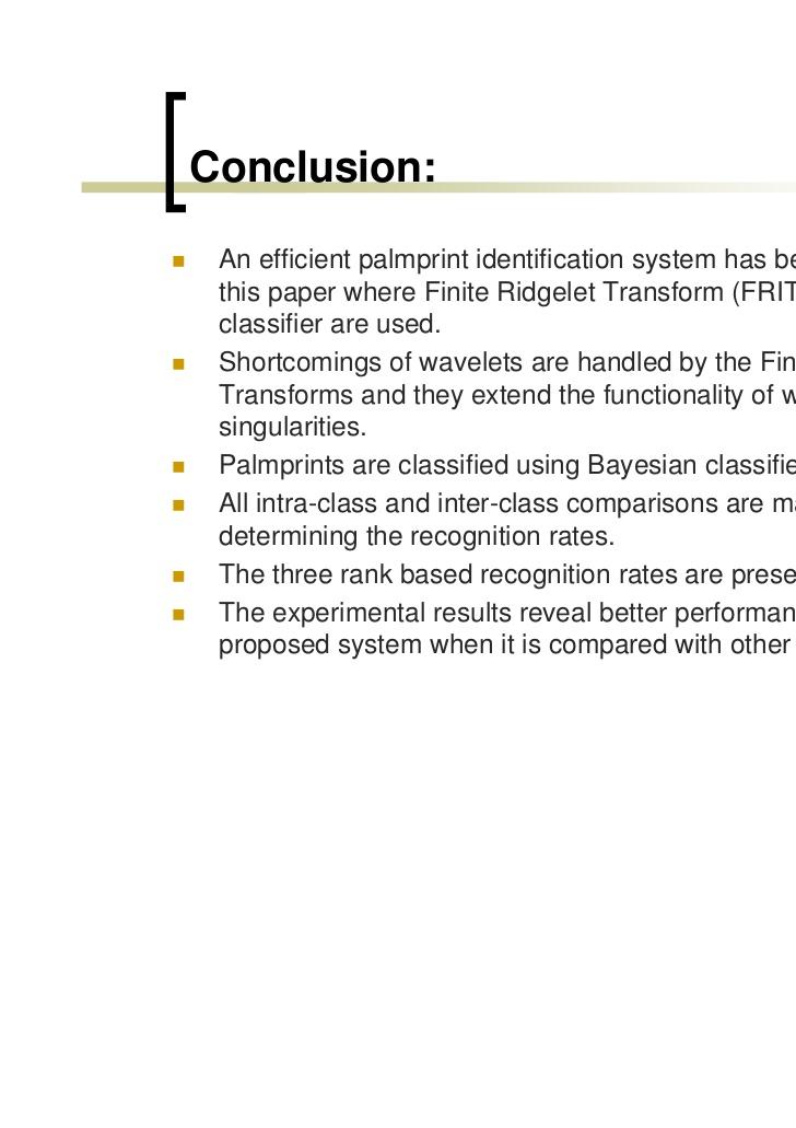 Palmprint Identification Using FRIT