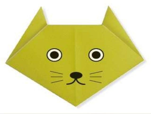 Gato en origami