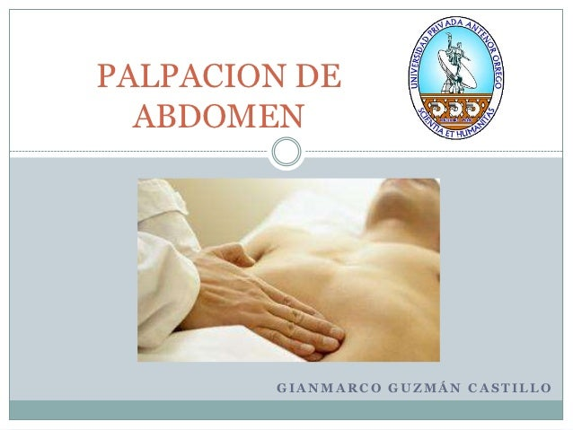 Palpacion de abdomen new