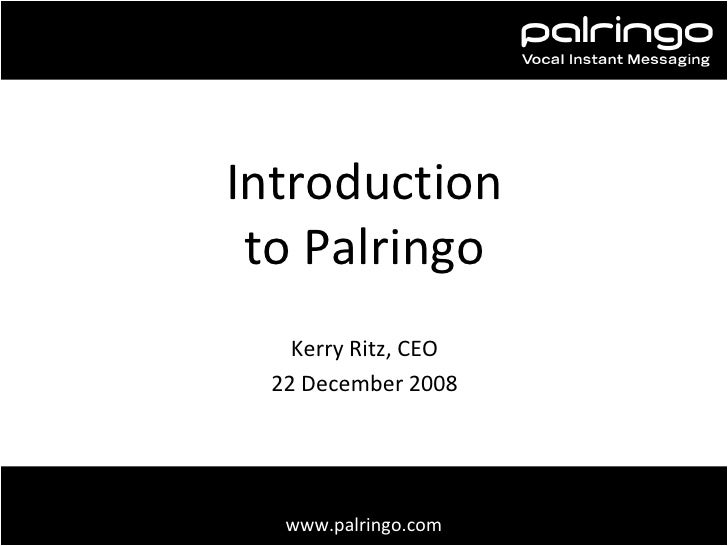 Introduction to Palringo (Mobile Monday Peer Awards)