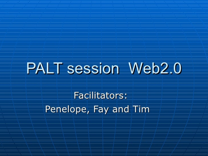 Palt Session  Web2 Apr09