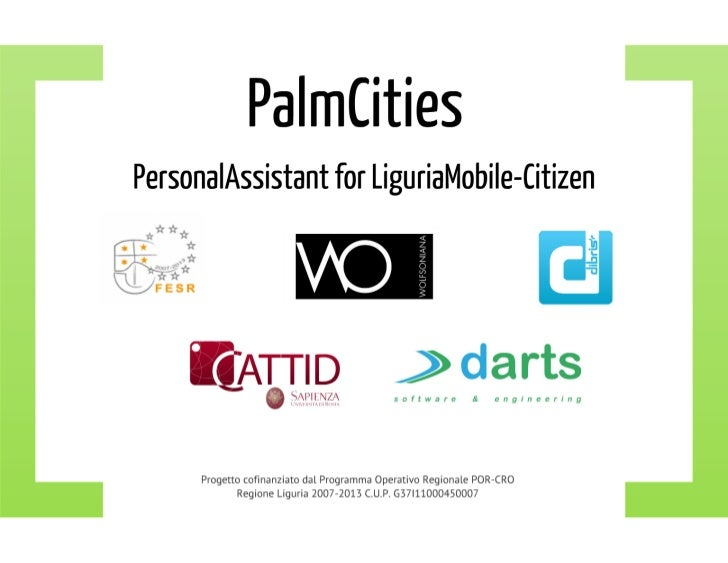 Palmcities - PersonalAssistant for LiguriaMobile-Citizen