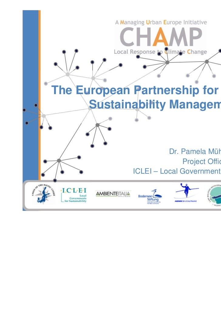 The European Partnership for Integrated      Sustainability Management                       Dr. Pamela Mühlmann,         ...