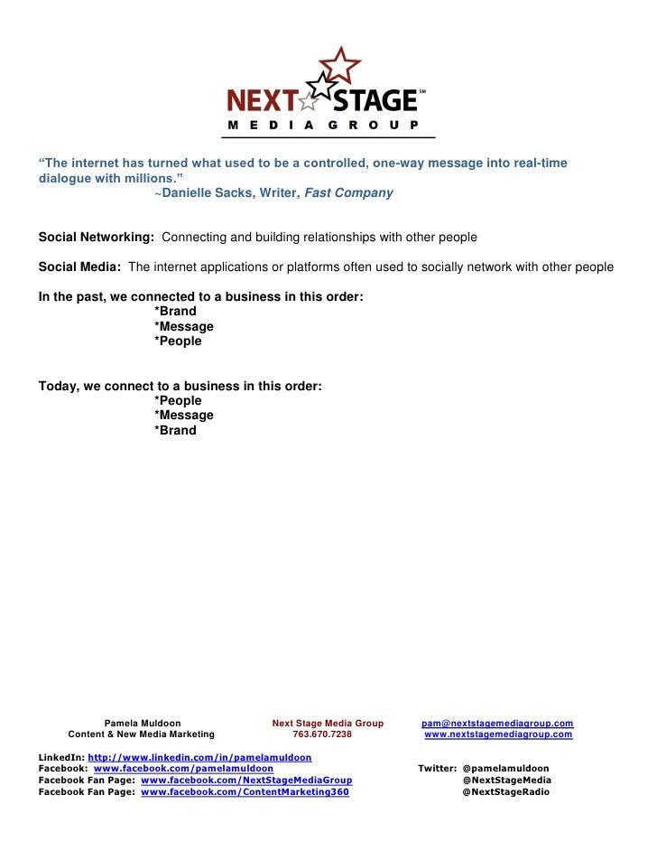 Pamela muldoon managing social media worksheet 4 12