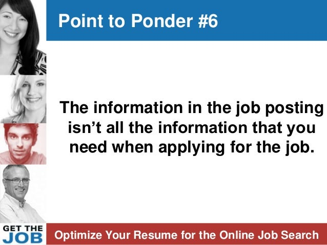 post your resume online pamela paterson author get the job optimize your resume for the o optimize your resume for