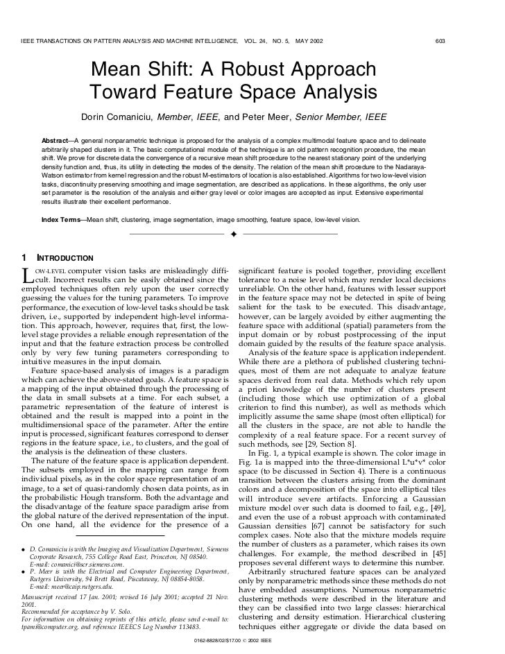 IEEE TRANSACTIONS ON PATTERN ANALYSIS AND MACHINE INTELLIGENCE,                      VOL. 24, NO. 5,   MAY 2002           ...