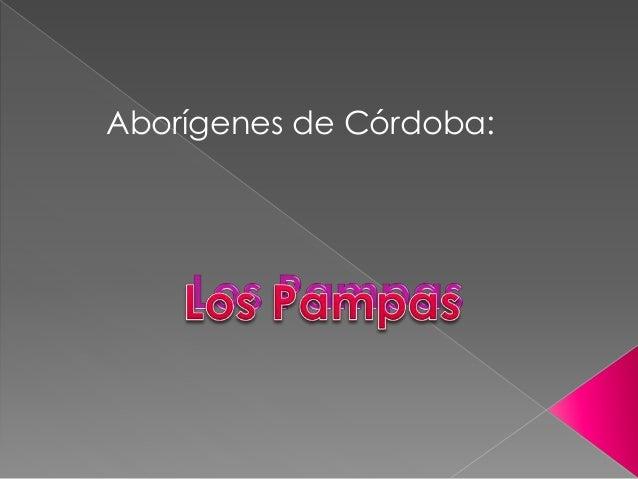 Aborígenes de Córdoba: