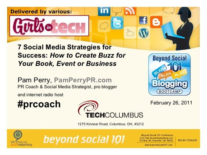 7 Social Media Strategies by Pam Perry, PR coach