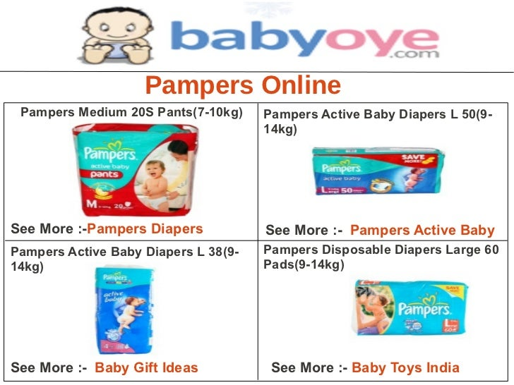 Pampers Online Pampers Medium 20S Pants(7-10kg)     Pampers Active Baby Diapers L 50(9-                                   ...