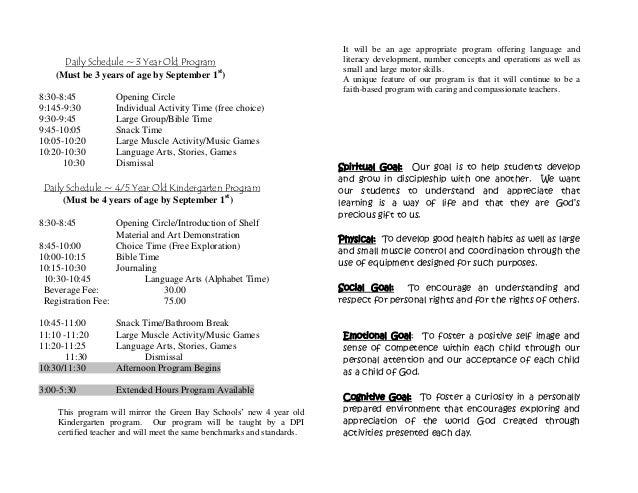 Pamphlet for preschool info 2014-2015