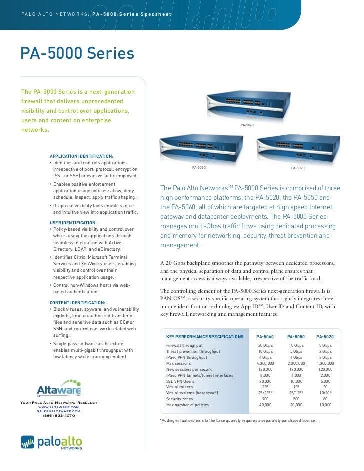 Palo Alto Networks PA5000 series
