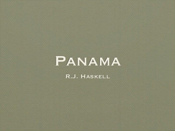 PanamaR.J. Haskell
