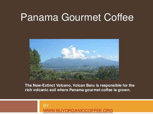 BY WWW.BUYORGANICCOFFEE.ORG Panama Gourmet Coffee The Now-Extinct Volcano, Volcan Baru is responsible for the rich volcani...