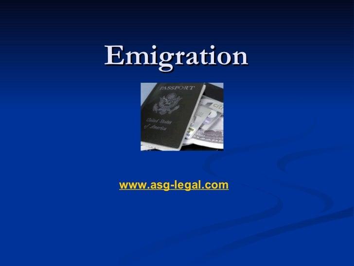 Emigration  www.asg - legal.com