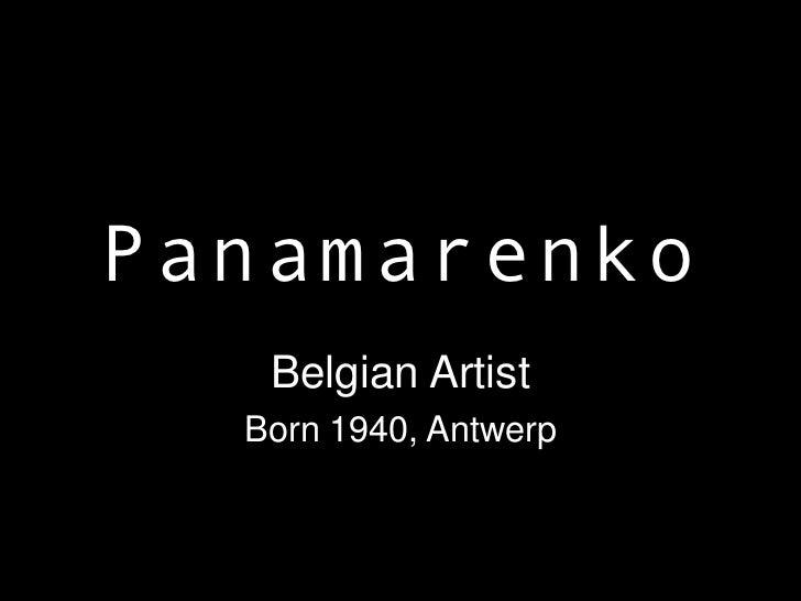 Panamarenko   Belgian Artist  Born 1940, Antwerp