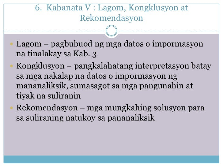 Halimbawa ng thesis sa filipino 2 kabanata 3