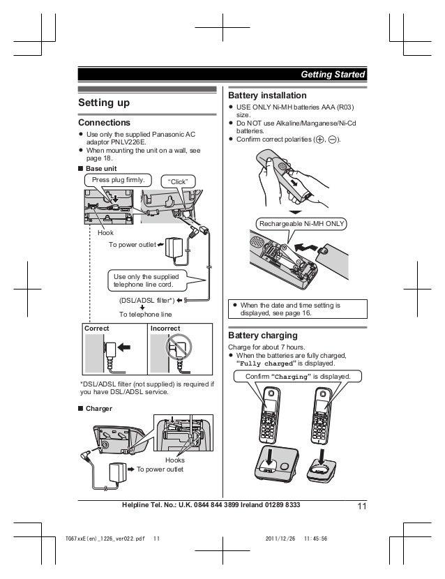 Panasonic KX-TG6711 Manual