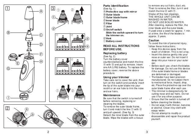 Panasonic Er430k Instruction Manual