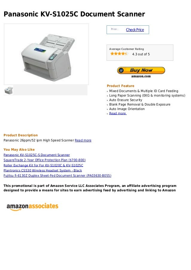 Panasonic kv s1025 c document scanner