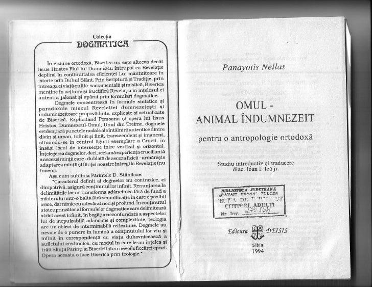 Panayotis Nellas - Omul, animal indumnezeit