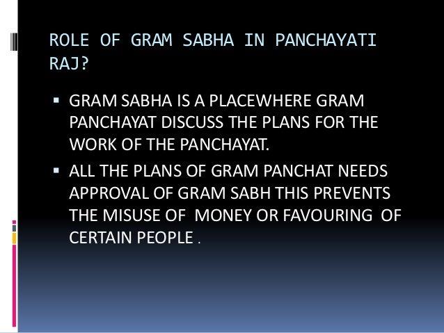 Functions Of Gram Sabha
