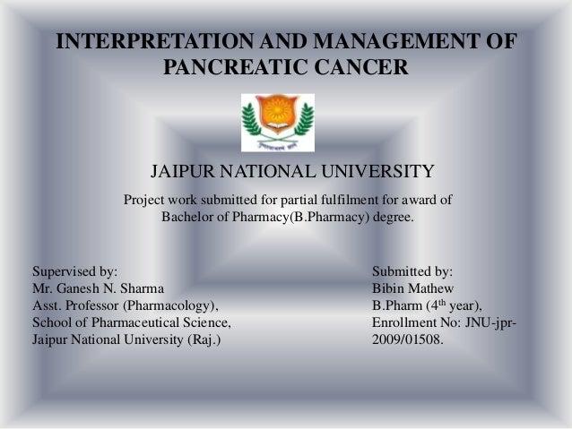 Interpretation and Management of Pancreatic cancer
