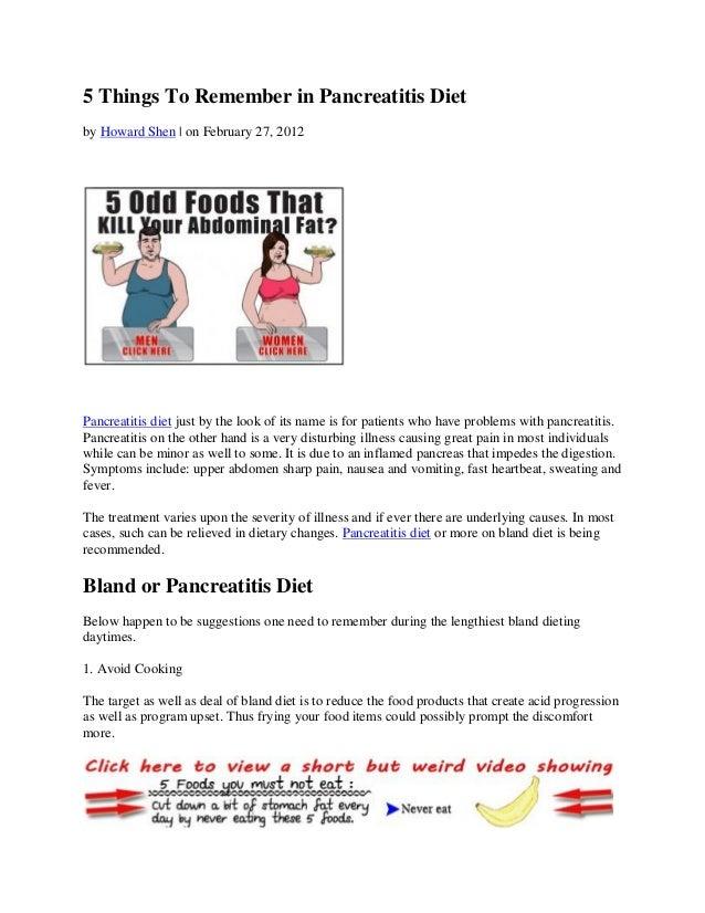 Pancreatitis diet