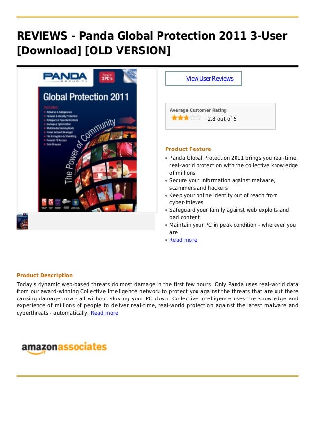 REVIEWS - Panda Global Protection 2011 3-User[Download] [OLD VERSION]ViewUserReviewsAverage Customer Rating2.8 out of 5Pro...