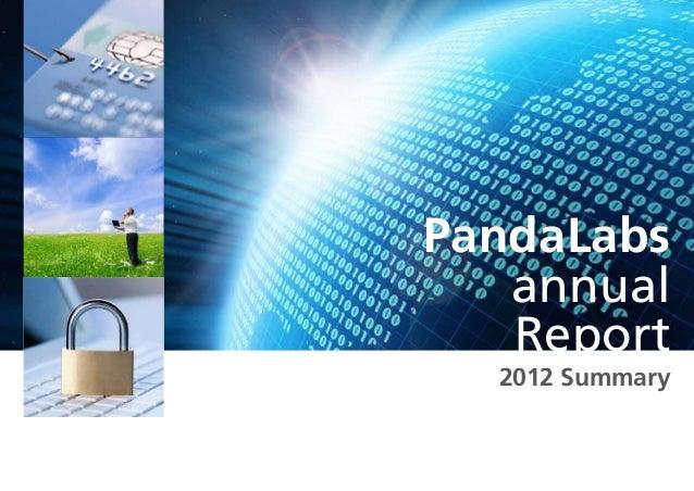 Panda labs annual-report-2012