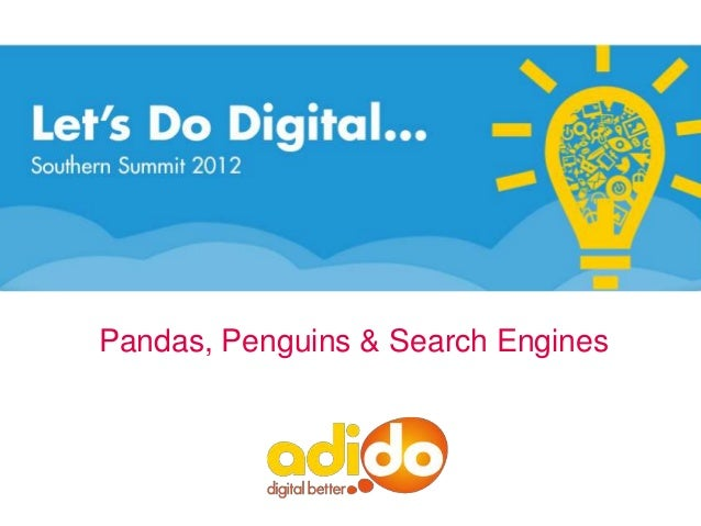 LDD2012 - Pandas, penguins & search engines