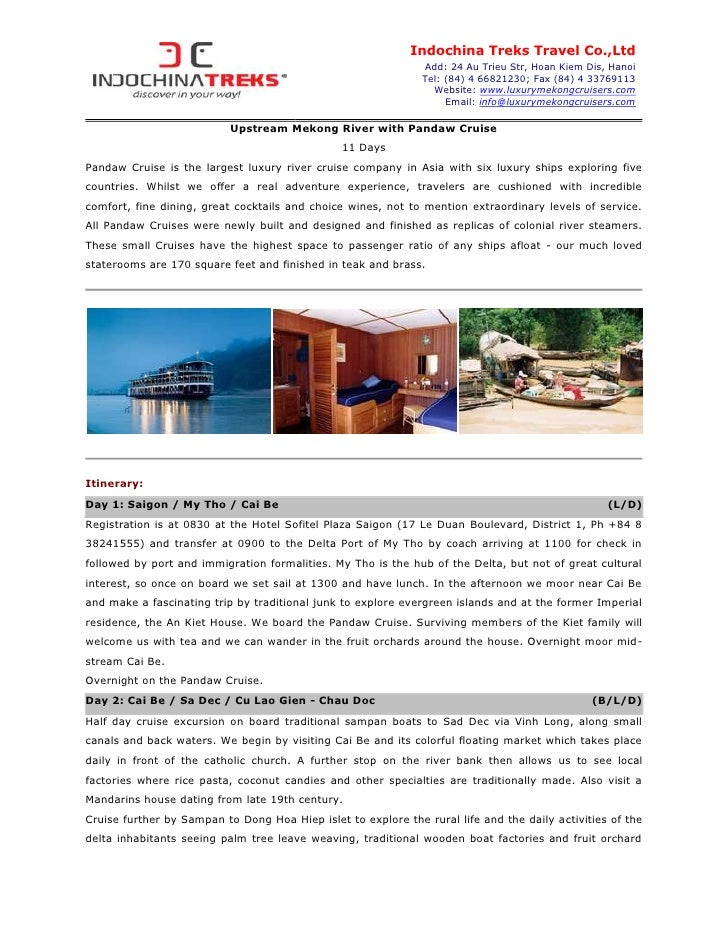 Indochina Treks Travel Co.,Ltd                                                               Add: 24 Au Trieu Str, Hoan Ki...