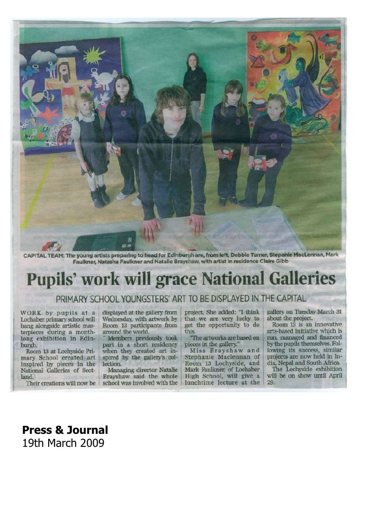 Press & Journal19th March 2009