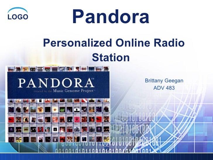 Pandora   Personalized Online Radio Station Brittany Geegan ADV 483