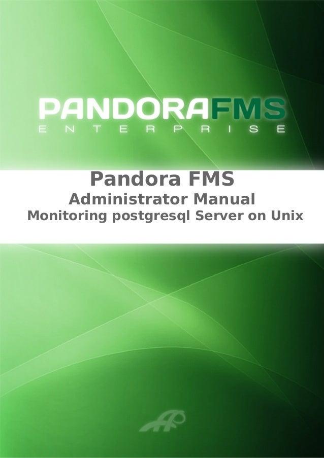 Pandora FMS Administrator Manual Monitoring postgresql Server on Unix