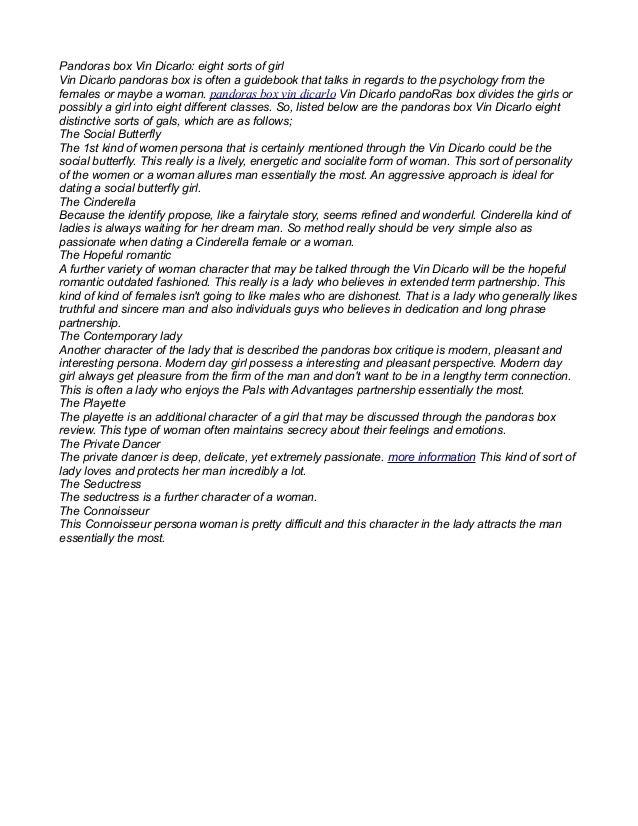 pandora box vin dicarlo free download pdf