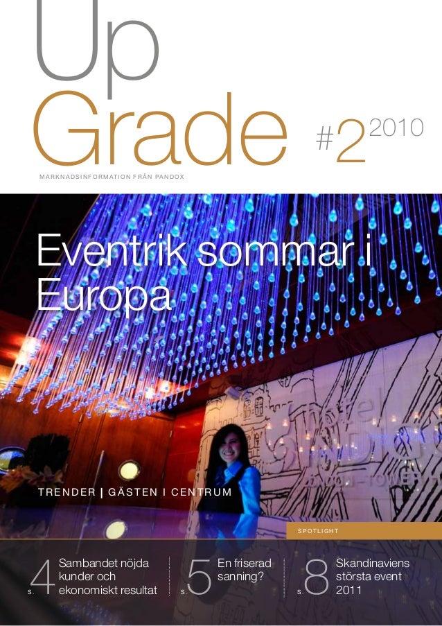 Up GradeM A R K N A D S I N F O R M AT I O N F R Å N PA N D O X Skandinaviens största event 20118S . En friserad sanning? ...