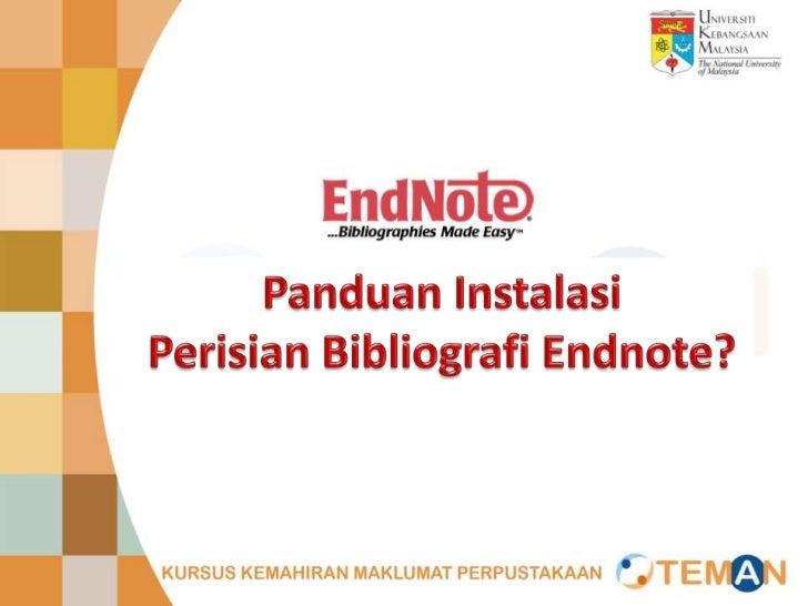 Panduan install endnote