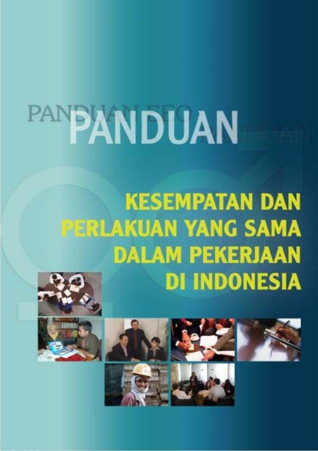 Departemen Tenaga Kerja dan Transmigrasi Republik Indonesia Gugus Tugas Kesempatan dan Perlakuan yang Sama dalam Pekerjaan...
